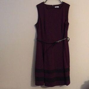 Calvin Klein dark purple dress